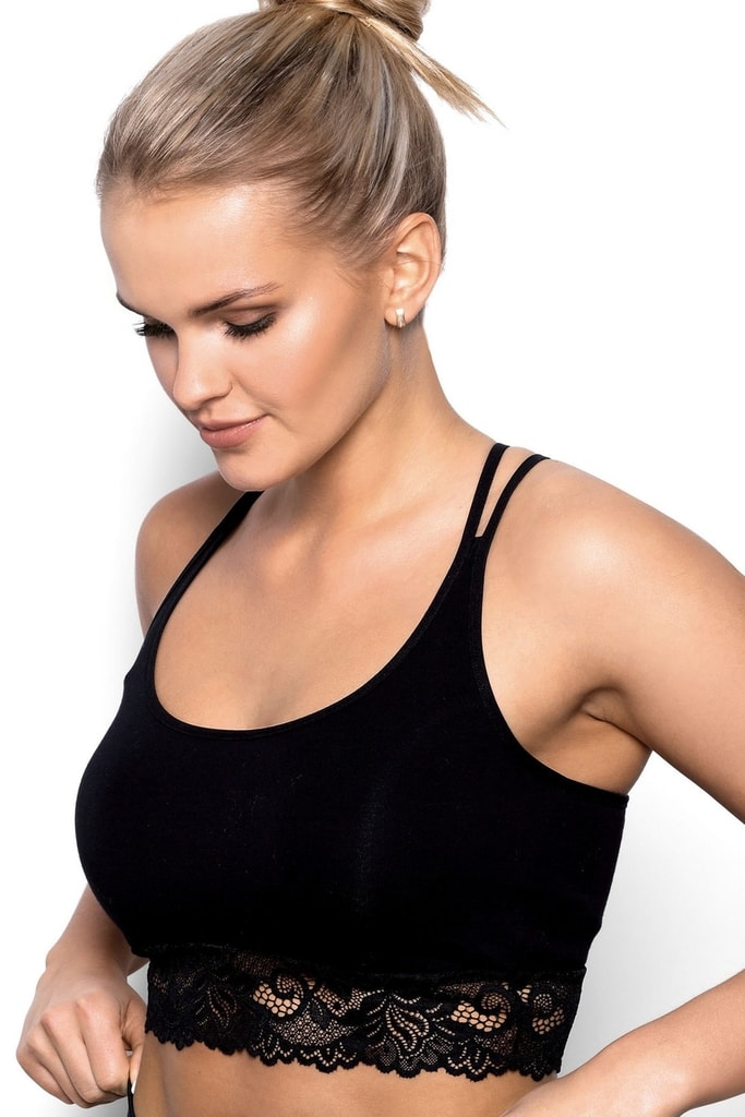 Fitness top Aurora black - XL