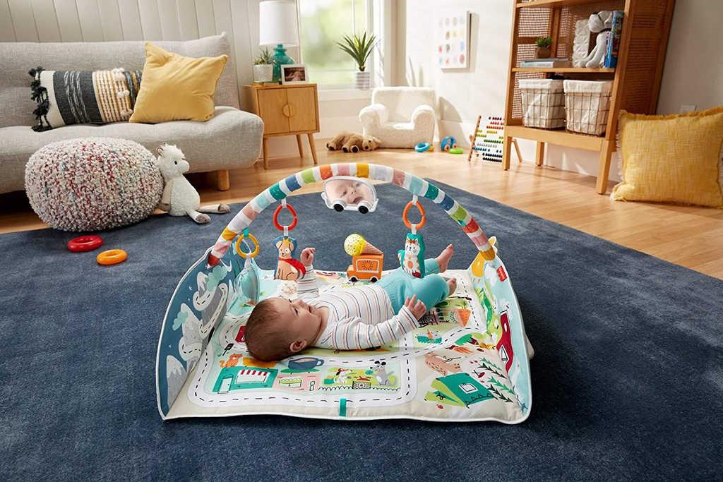 FISHER PRICE Baby dečka hrací město s aktivitami na baterie Zvuk pro miminko