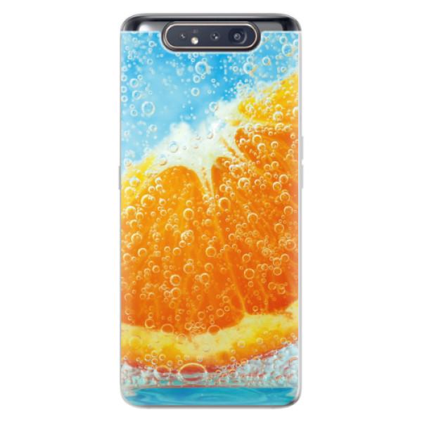 Odolné silikonové pouzdro iSaprio - Orange Water - Samsung Galaxy A80