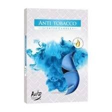 Aura Anti Tobacco - Vonné čajové svíčky 6 ks