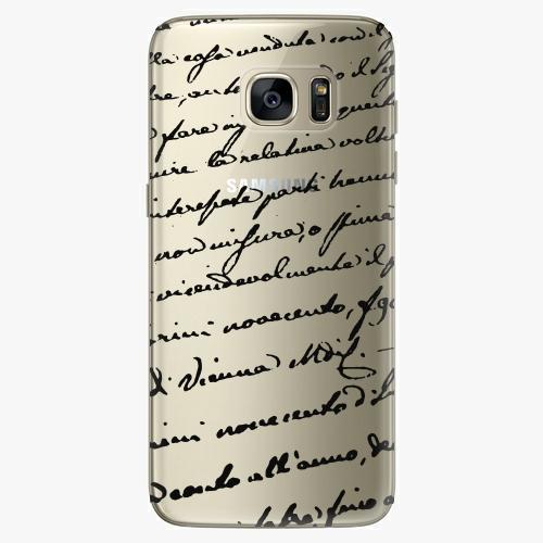 Plastový kryt iSaprio - Handwiting 01 - black - Samsung Galaxy S7