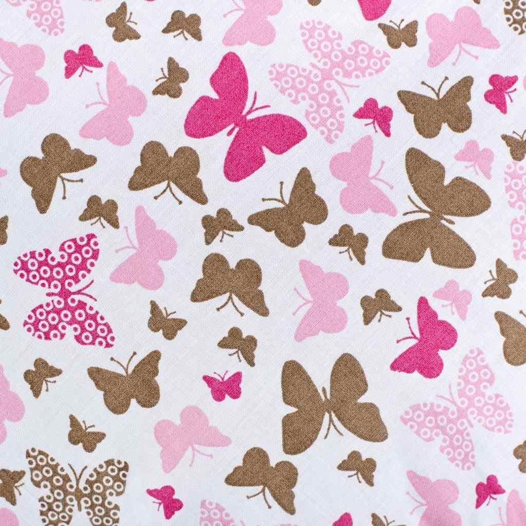 Klasická šněrovací zavinovačka New Baby růžoví motýli - růžová