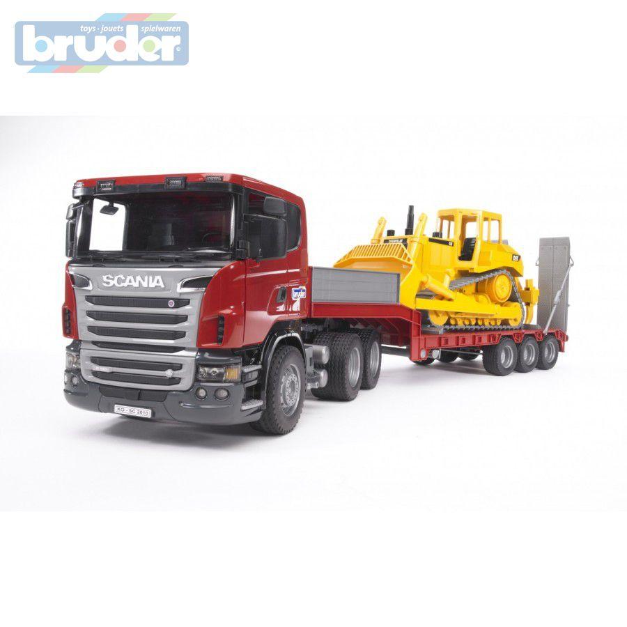 BRUDER 03555 (3555) Nákladní auto SCANIA R - tahač + Buldozer