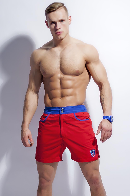 Pánské šortky Alpha Male Surfo red - Červená/S