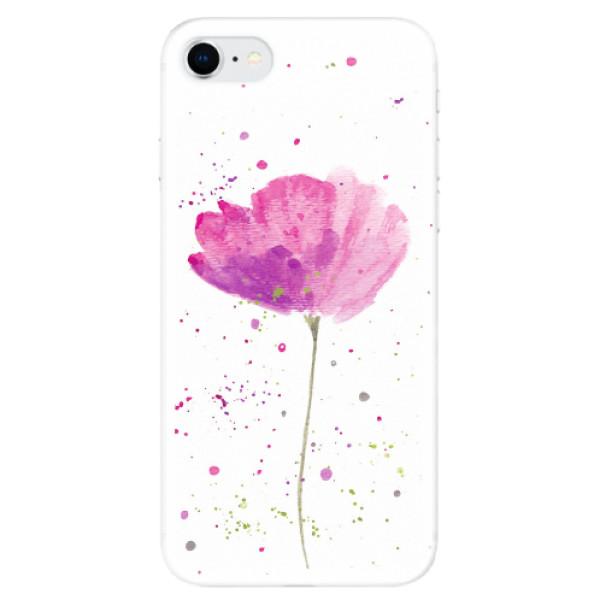 Odolné silikonové pouzdro iSaprio - Poppies - iPhone SE 2020