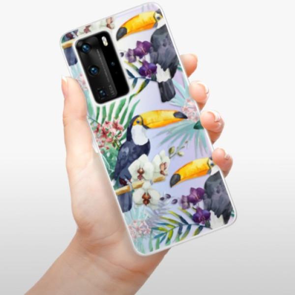 Odolné silikonové pouzdro iSaprio - Tucan Pattern 01 - Huawei P40 Pro