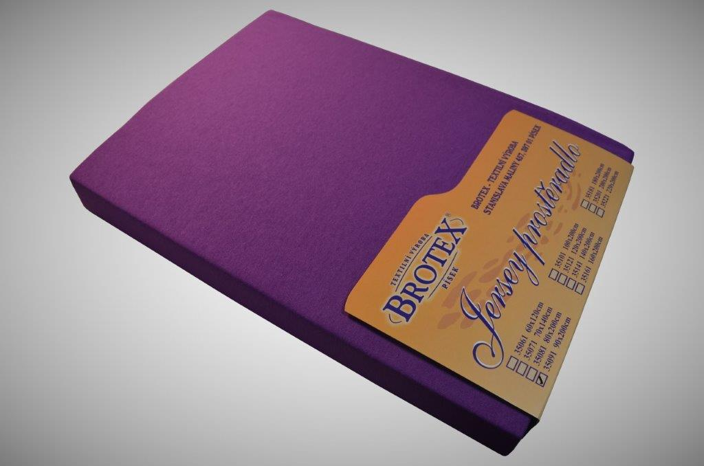 Jersey prostěradlo tmavě fialová, Výběr rozměru