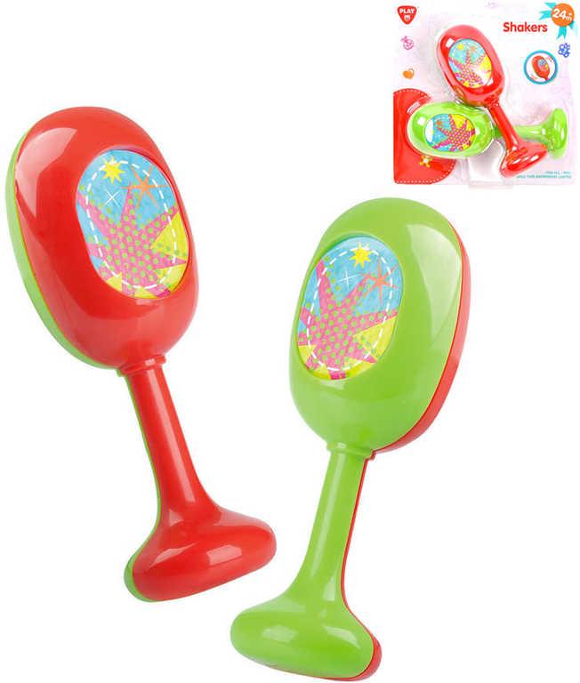 Baby rumbakoule s obrázkem set 2ks plast pro miminko *HUDEBNÍ NÁSTROJE*