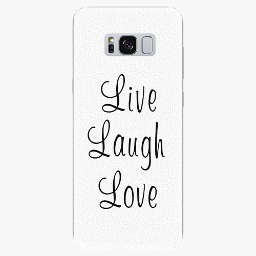 Silikonové pouzdro iSaprio - Live Laugh Love - Samsung Galaxy S8