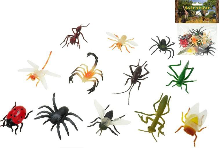 Hmyz v sáčku 12 druhů 5 cm