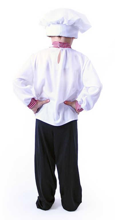 KARNEVAL Šaty kuchař vel.M (116-128cm) 6-8 let *KOSTÝM*