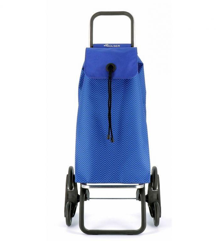 Nákupní taška s kolečky do schodů, modrá