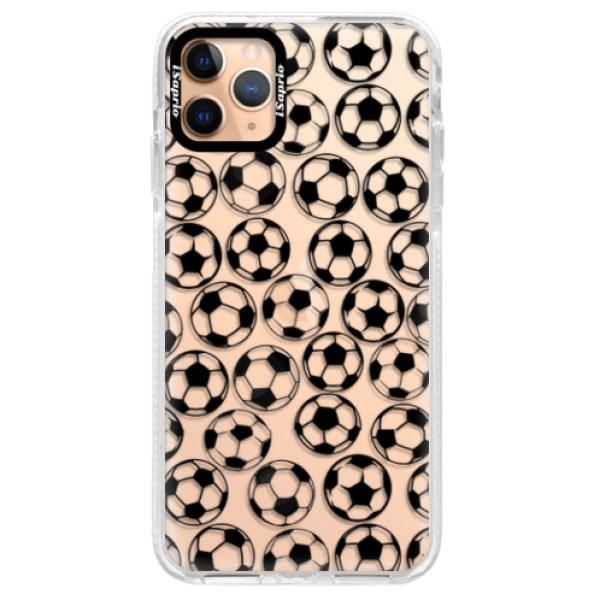 Silikonové pouzdro Bumper iSaprio - Football pattern - black - iPhone 11 Pro Max