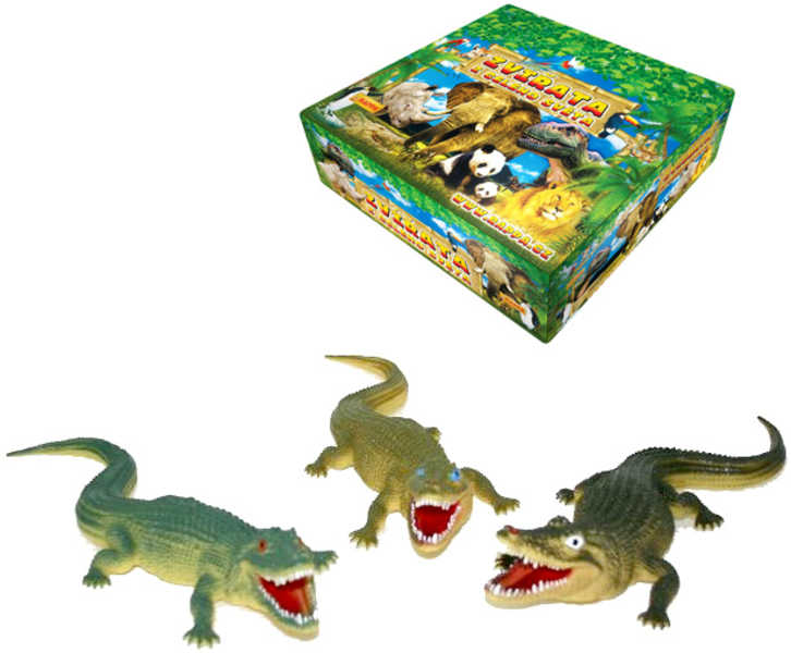 Krokodýl 38 cm 3 druhy Aligátor GUMA