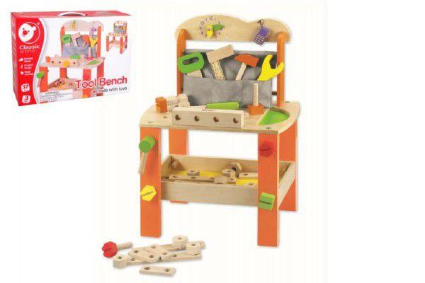 Stůl/Ponk s nářadím dřevo 38ks 40x56x28cm v krabici 42x30x13cm