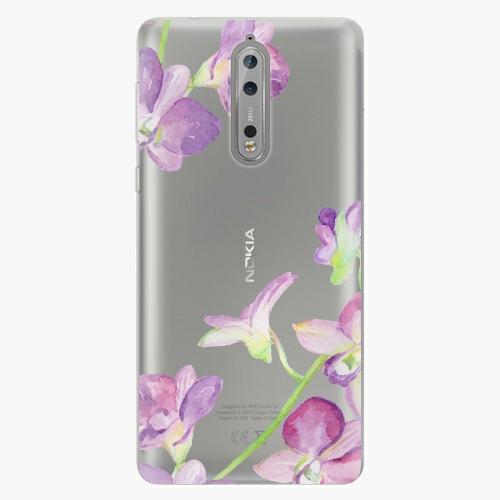 Plastový kryt iSaprio - Purple Orchid - Nokia 8