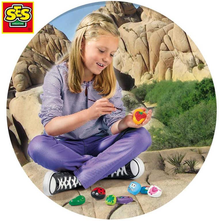 SES CREATIVE Malování na kamínky kreativní set pro dívky v krabici