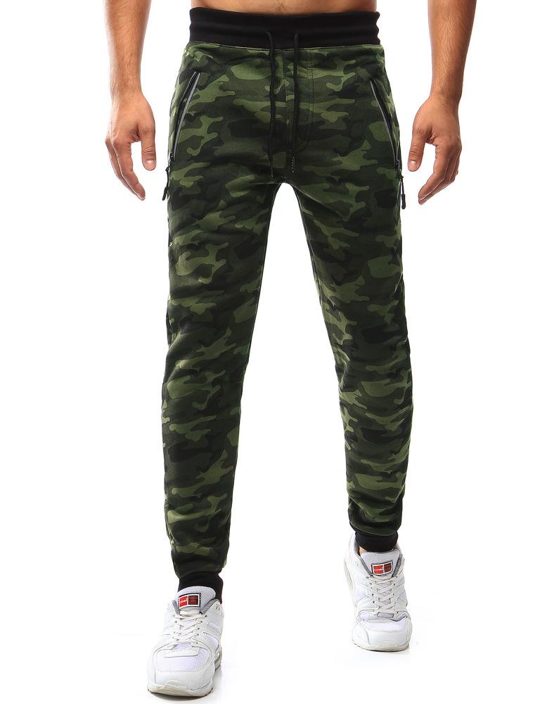 Pánské teplákové kalhoty světlý HL-8493 (ux0990) - Red Fireball - Maskáčová/M