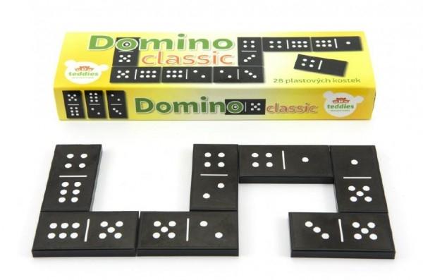 Domino Classic 28ks společenská hra plast v krabičce 21x6x3cm
