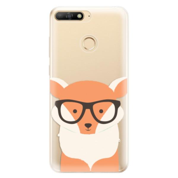 Odolné silikonové pouzdro iSaprio - Orange Fox - Huawei Y6 Prime 2018