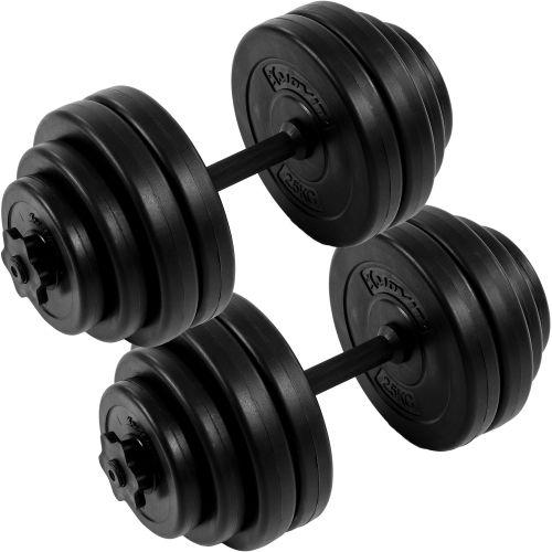 MOVIT 2 jednoruční činky s kotouči 30 kg (2x15kg)