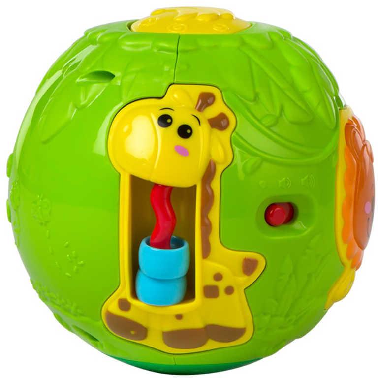 Baby míček se zvířátkky 13cm na baterie Světlo Zvuk pro miminko