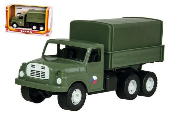 auto-nakladni-tatra-148-khaki-vojenska-plast-30cm-v-krabici-35x18x13cm