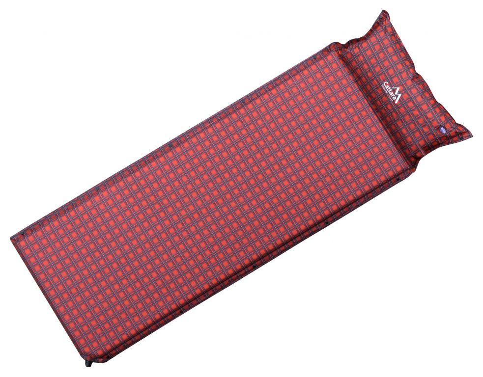 Karimatka samonafukovací s polštářem - červená