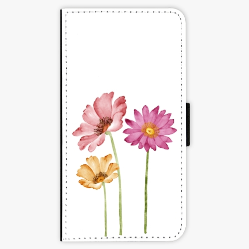 Flipové pouzdro iSaprio - Three Flowers - Samsung Galaxy J7 2016