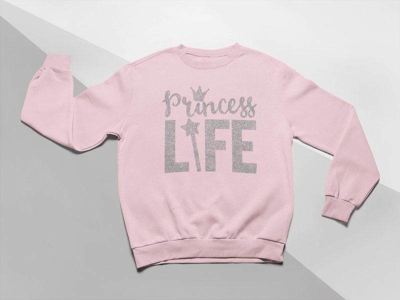 kidsbee-moderni-detska-divci-mikina-princess-life-ruzova-vel-104-104