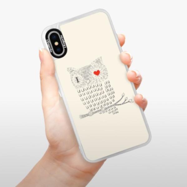 Neonové pouzdro Pink iSaprio - I Love You 01 - iPhone X