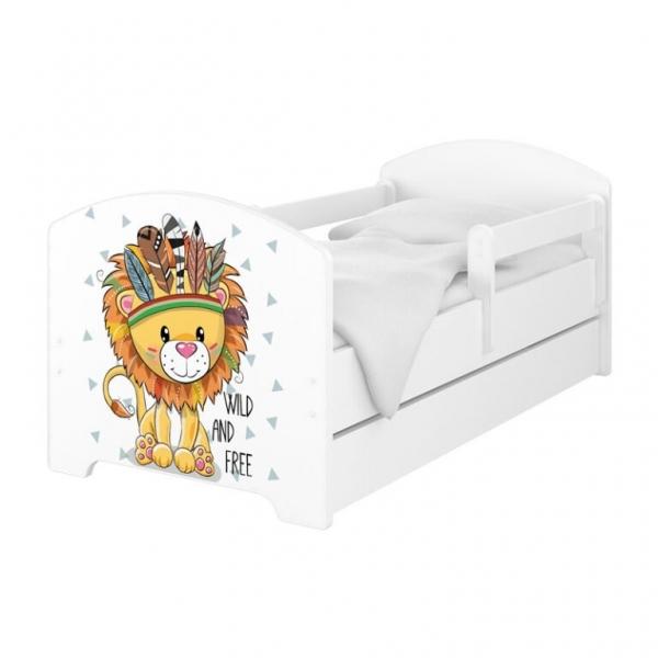 BabyBoo Dětská postel 140 x 70cm - Lev + šuplík - 140x70