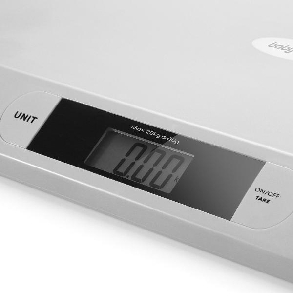 BabyOno Novorozenecká elektronická váha s LCD displejem, šedá