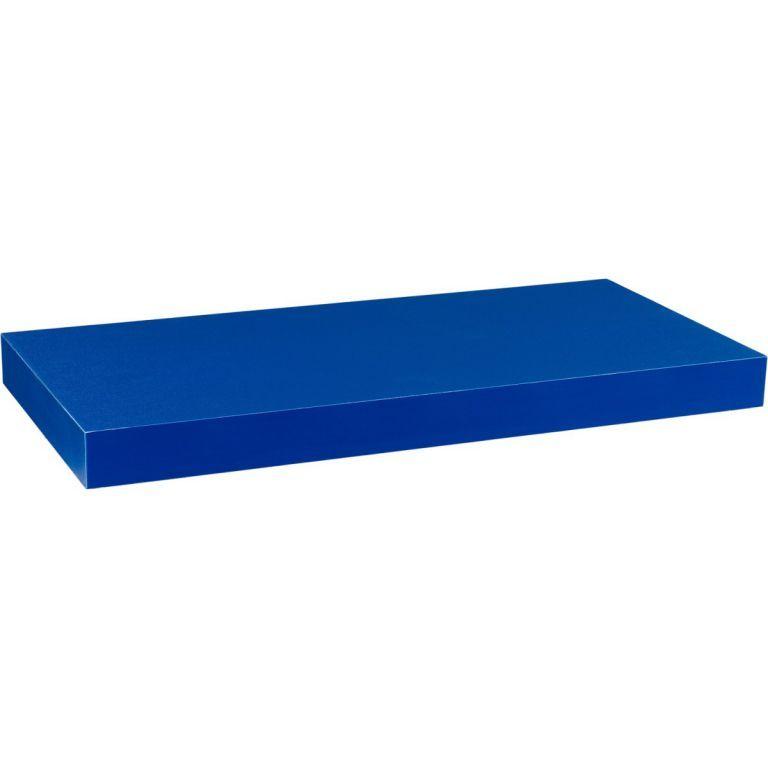 Stilista nástěnná police Volato, 100 cm, modrá