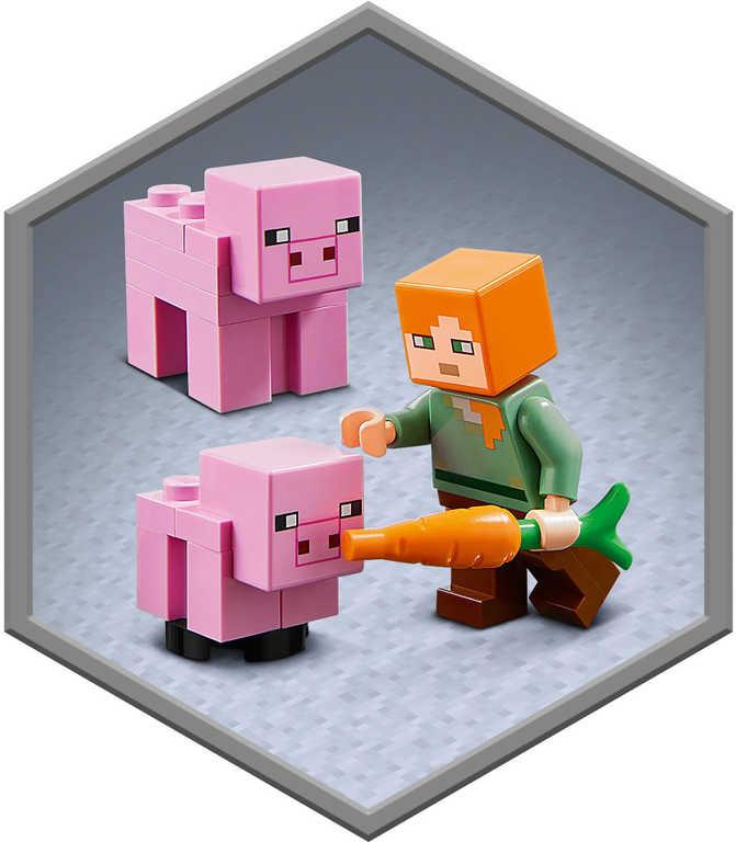 LEGO MINECRAFT Prasečí dům 21170 STAVEBNICE