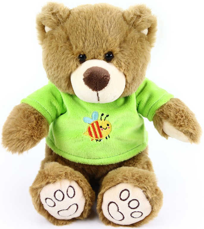 PLYŠ Medvídek v triku 26 cm hnědý