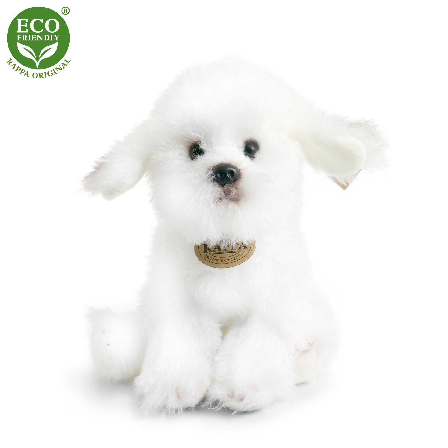 Plyšový pes bišonek sedící 26 cm ECO-FRIENDLY