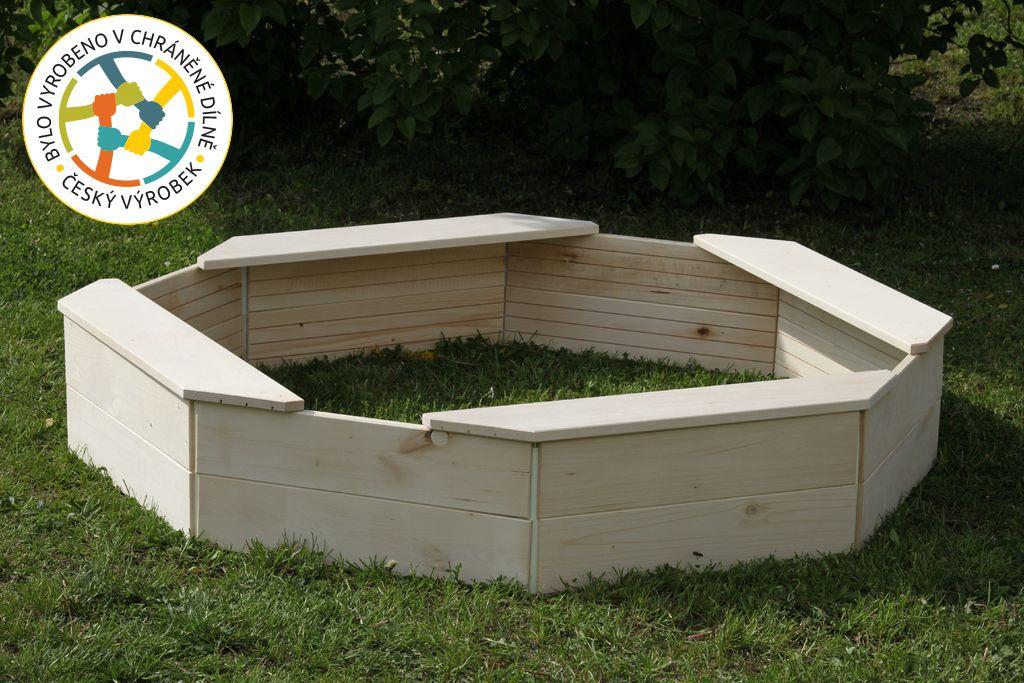 Dřevěné pískoviště - osmihranné