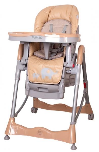 Jídelní židlička Coto Baby Mambo 2017 Beige - Sloníci