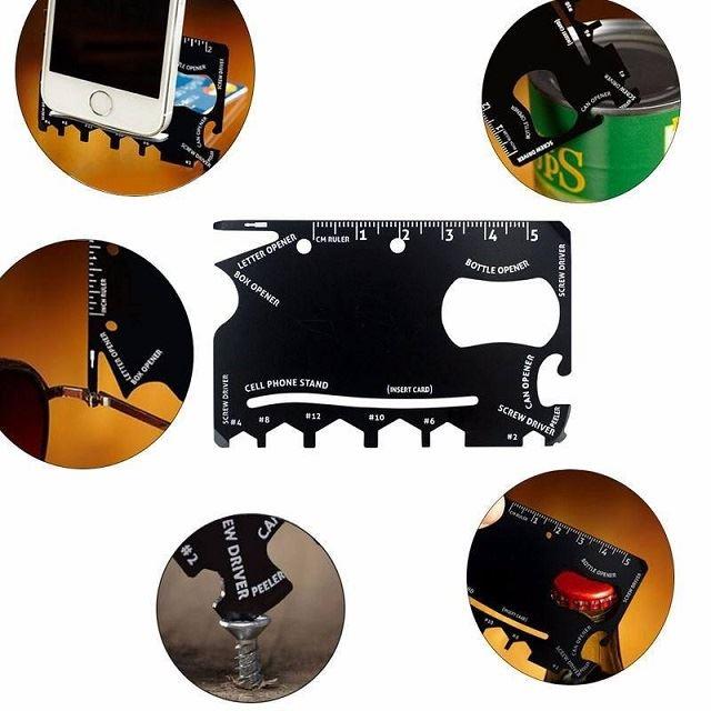 Ocelová multifunkční karta Wallet Ninja 18v1
