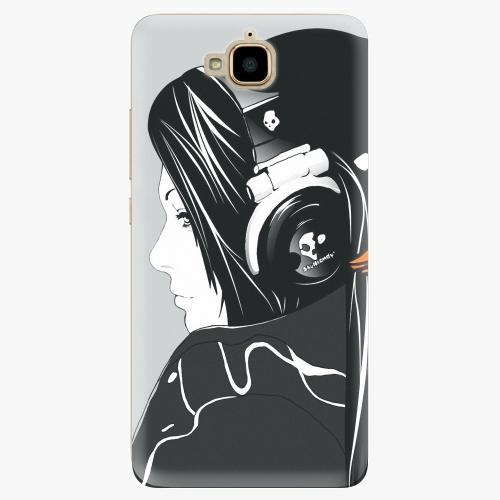 Plastový kryt iSaprio - Headphones - Huawei Y6 Pro
