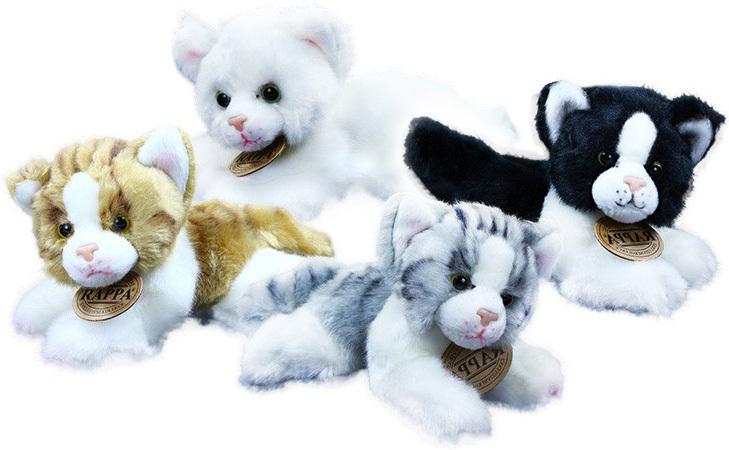 PLYŠ Kočka ležící 17 cm - 4 druhy