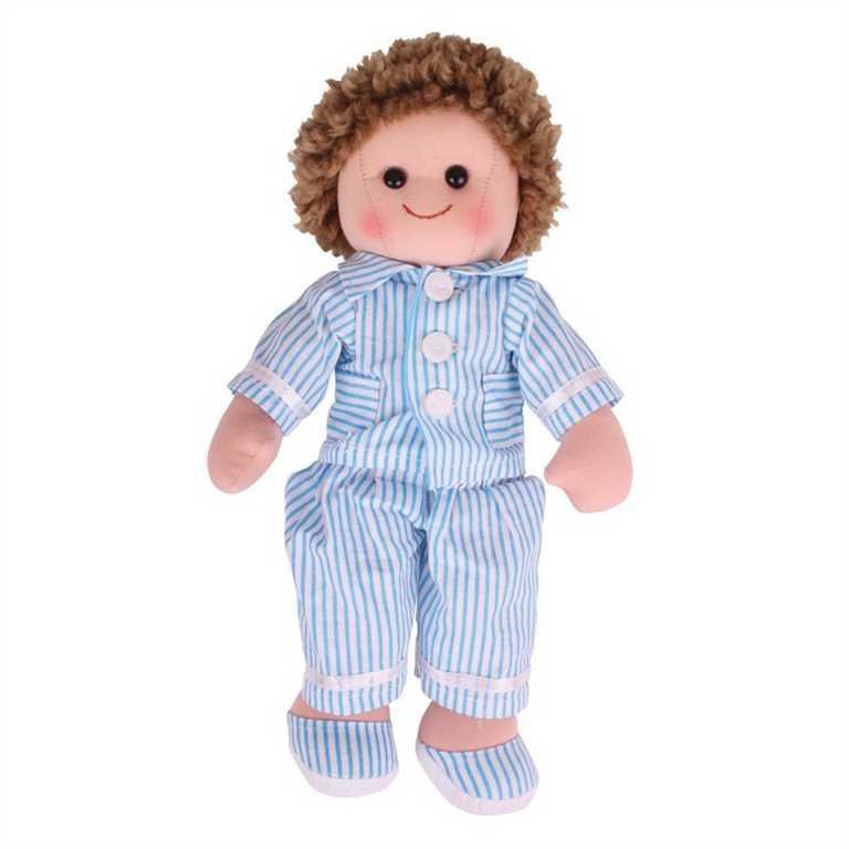 Bigjigs Toys Látková panenka Arthur 34 cm