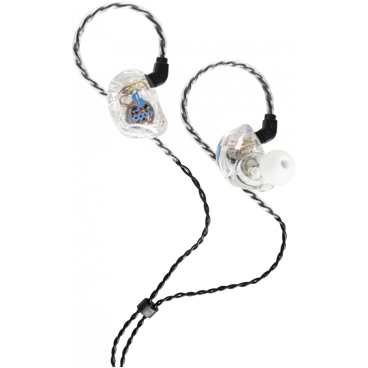 Stagg SPM-435 BK 4-driver, In-Ear sluchátka, transparentní
