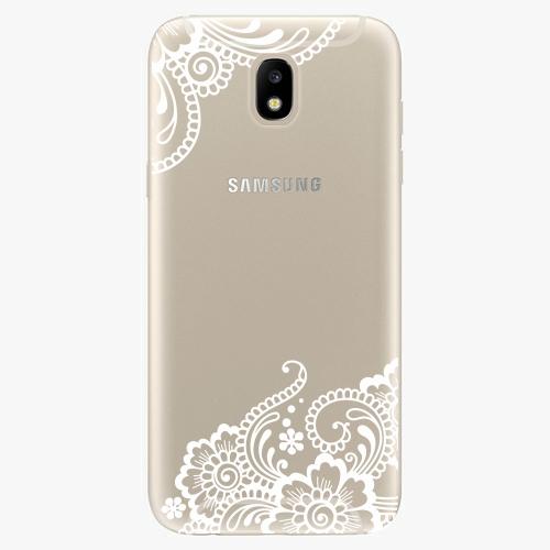 Silikonové pouzdro iSaprio - White Lace 02 - Samsung Galaxy J5 2017