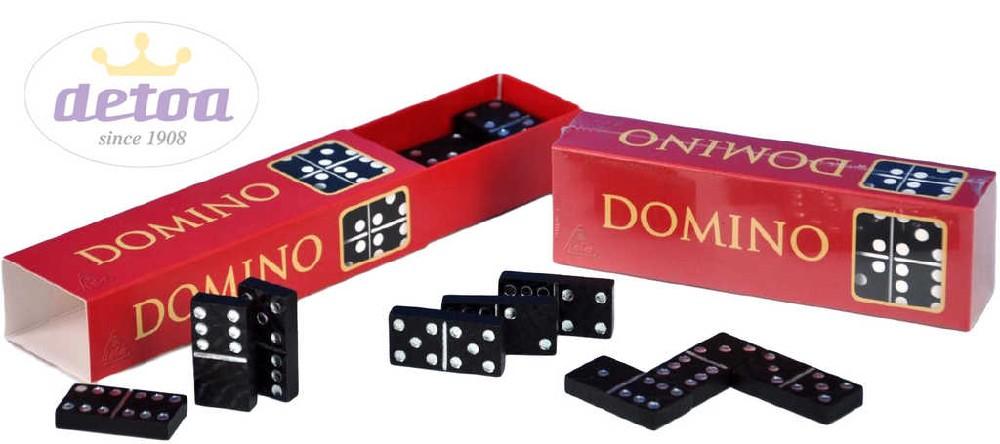 DETOA DŘEVO Domino set 28 dílků v krabičce *SPOLEČENSKÉ HRY*