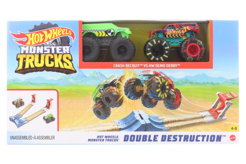 Hot Wheels Monster trucks dvojitá destrukce herní set GYC80