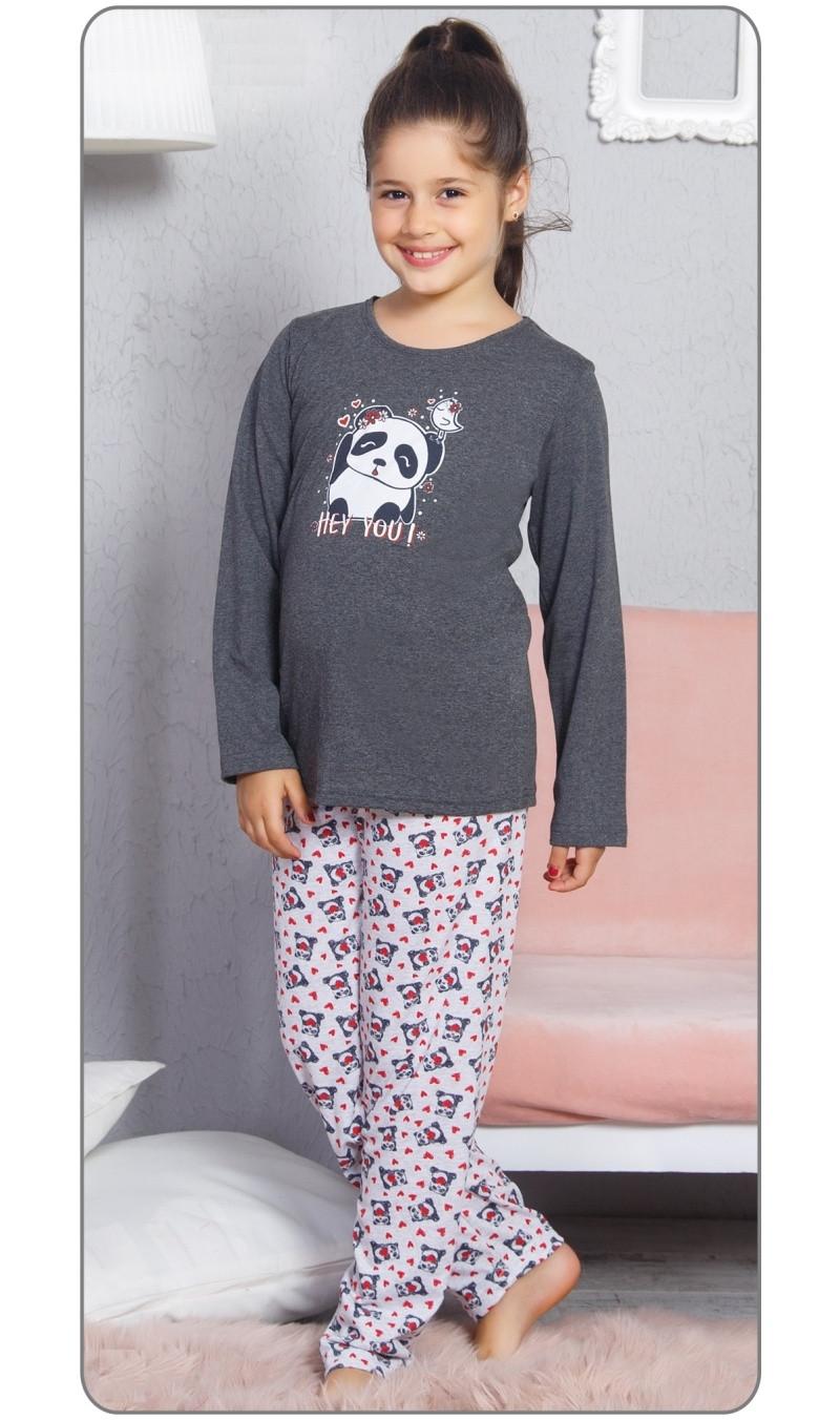Dětské pyžamo dlouhé Panda a ptáček
