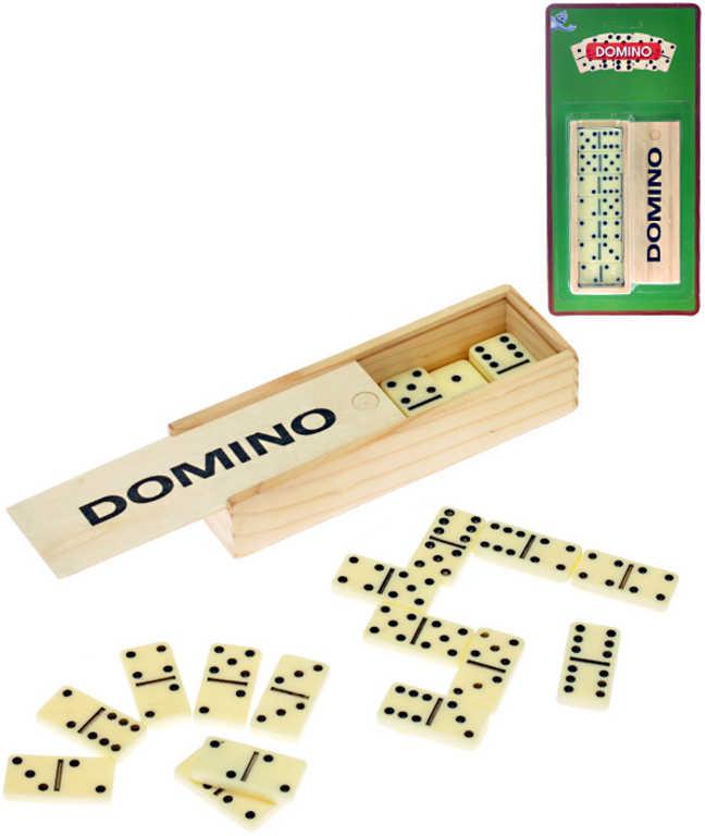 Hra Domino plast v dřevěné krabičce *SPOLEČENSKÉ HRY*