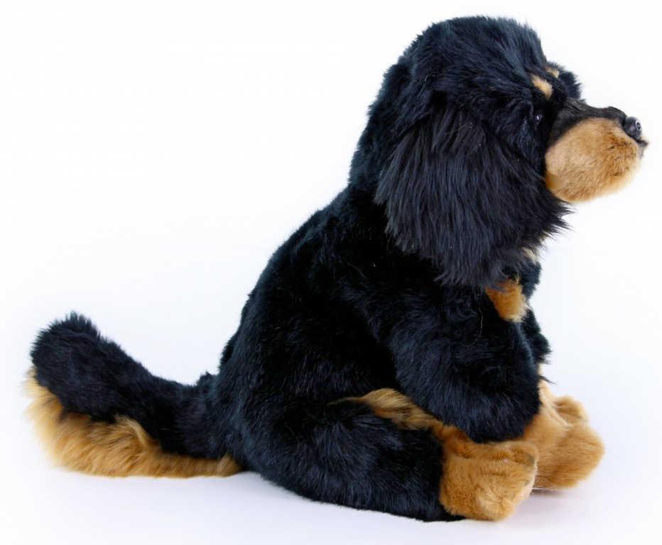 PLYŠ Pes mastiff sedící 26cm tibetská doga *PLYŠOVÉ HRAČKY*